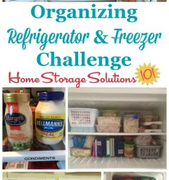 step by step instructions for organizing your refrigerator and freezer including decluttering tips and storage  [ 700 x 1397 Pixel ]