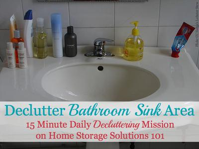 how to declutter your bathroom sink & counter {& make it a daily habit}