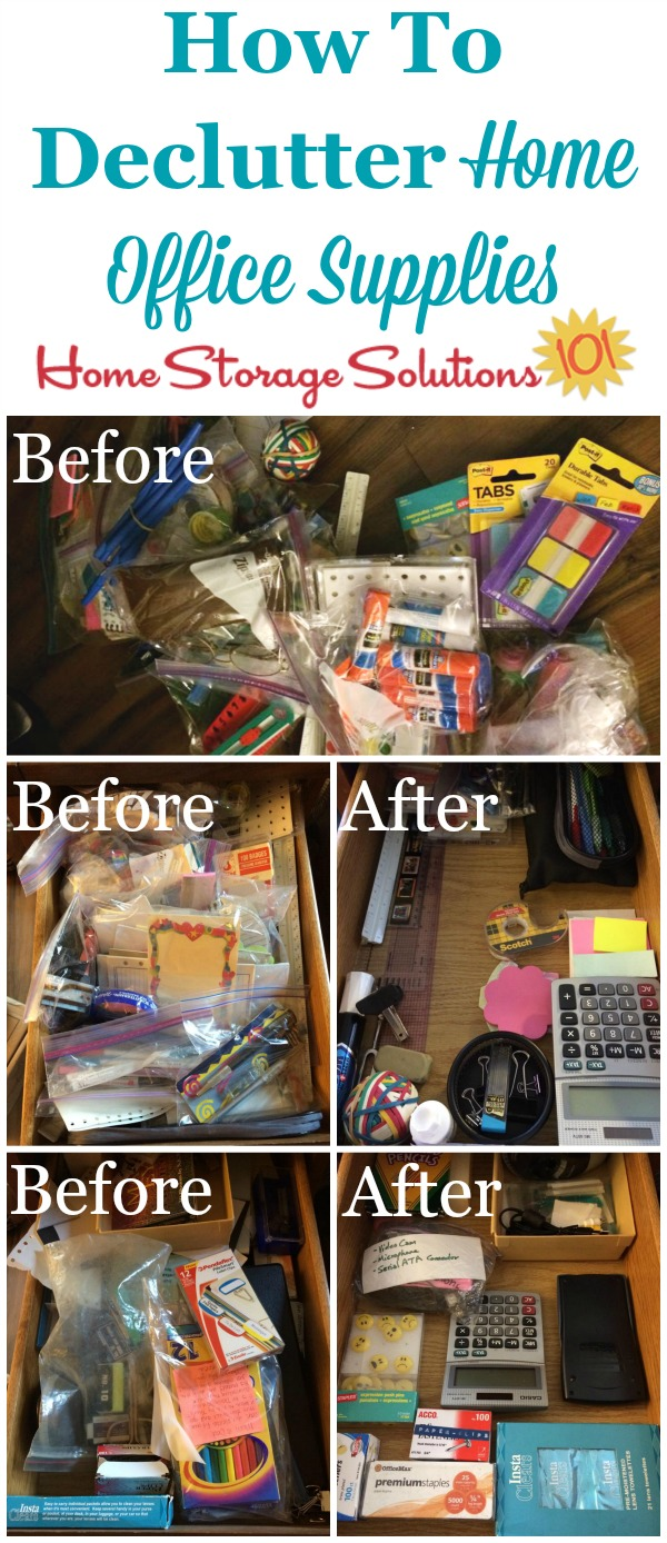 How To Declutter Home Office Supplies