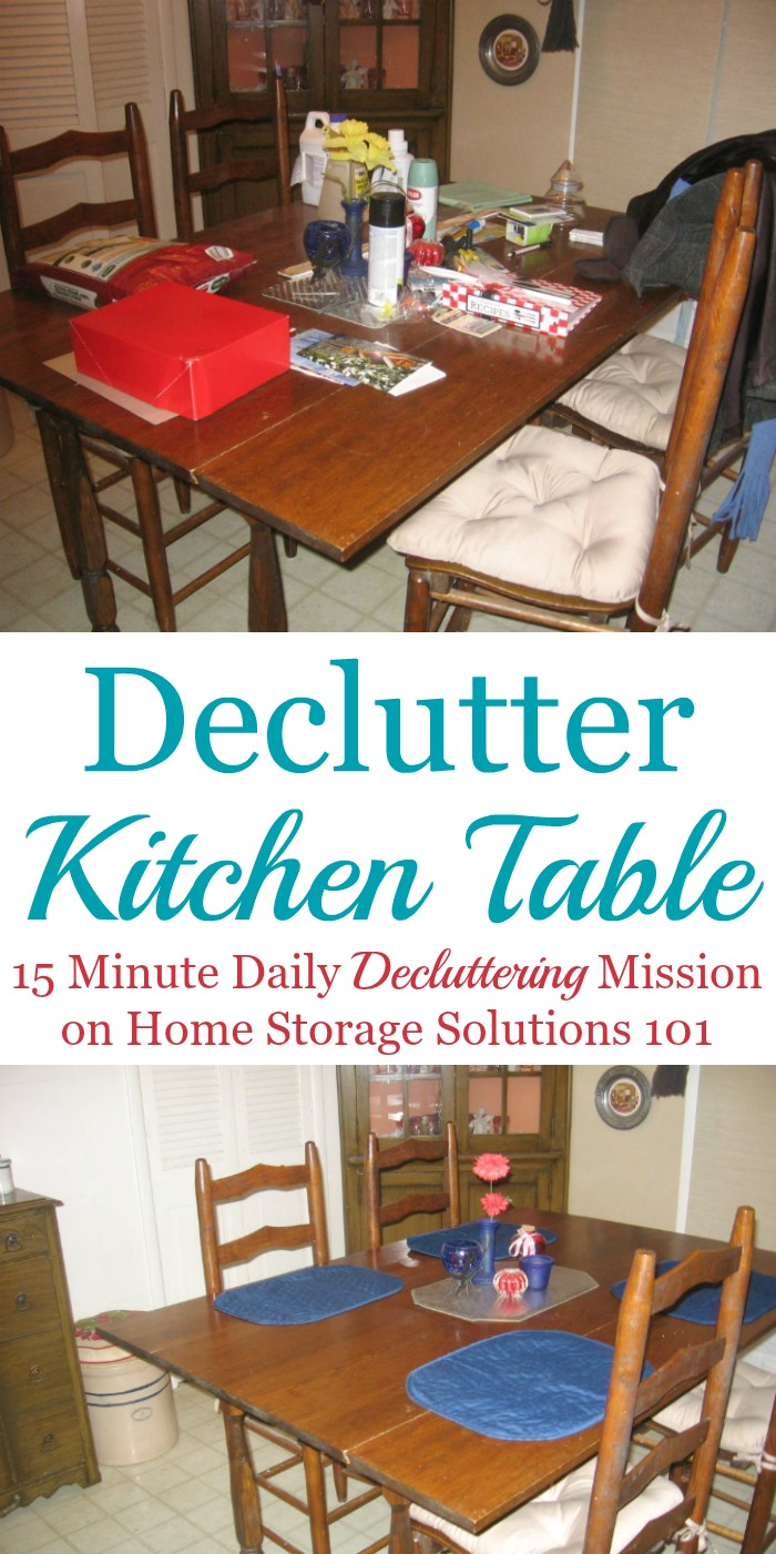 make kitchen table commercial ventilation declutter daily it a habit how to your and then clear