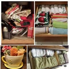 Kitchen Dish Towels Bar Lighting Declutter & Cloths {15 Minute Mission}