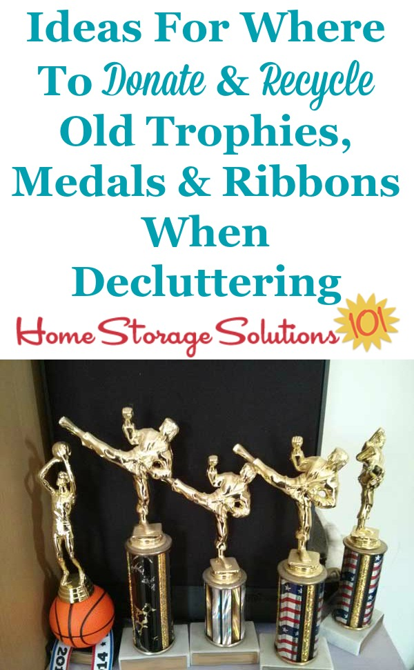 How To Declutter Old Trophies Medals  Awards Including