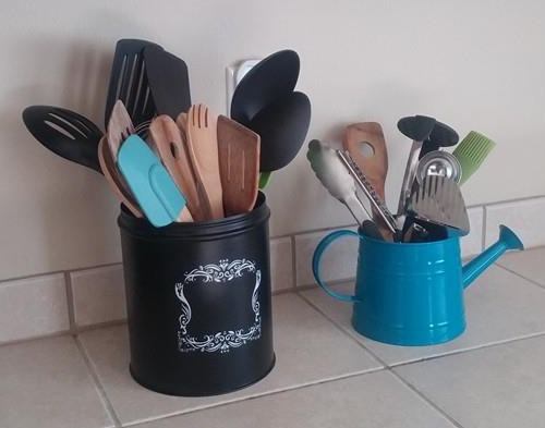 kitchen tool holder red knife block set utensil crock ideas for convenience saving drawer space holders