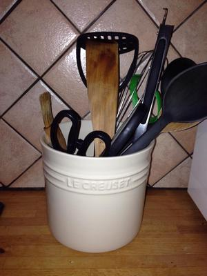 kitchen tool crock aid gas range utensil ideas: for convenience & saving drawer space
