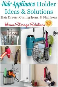 Hair Appliance Holder Ideas & Solutions