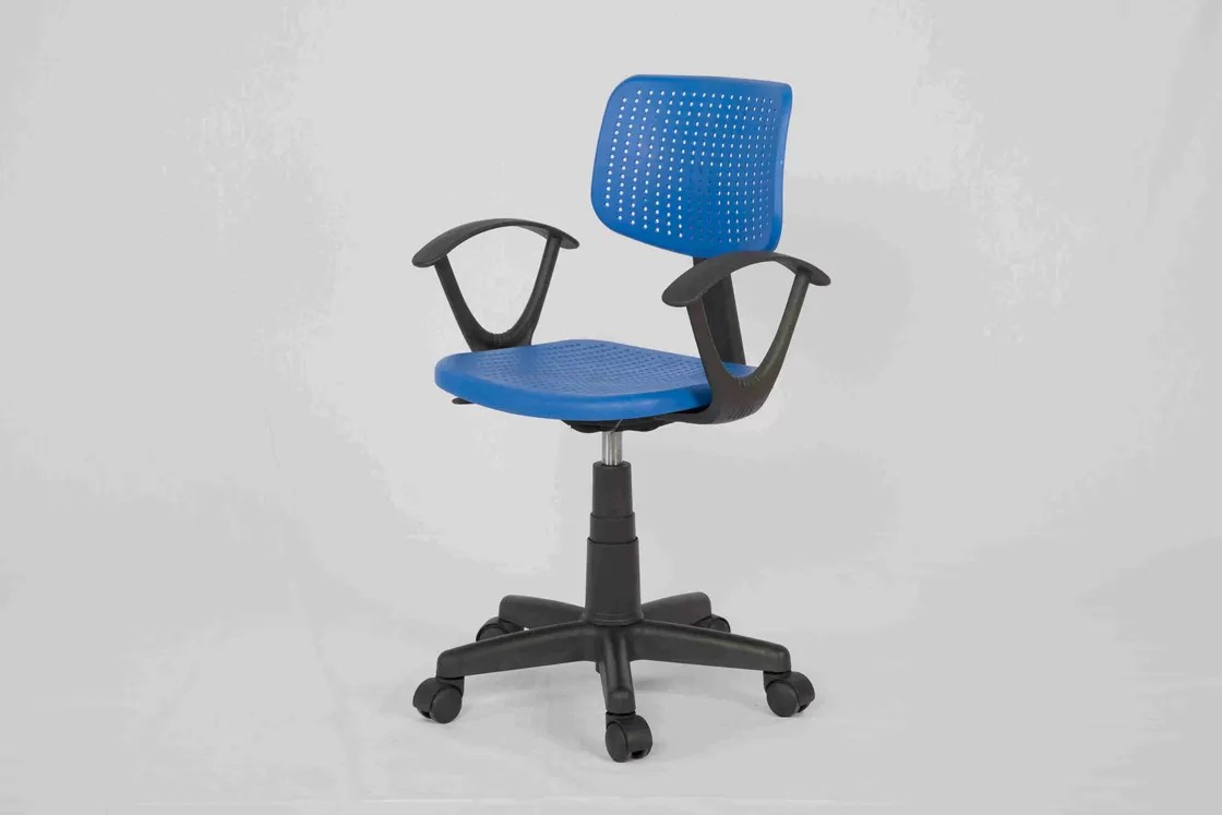 Ergonomic Student Computer Chair With Plastic Seat , Low