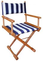 striped directors chairs chair covers for hire manchester teak furniture archives home yacht linen and interiors stipe