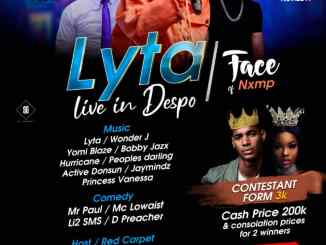 LYTA to Headline Face of NXMP Live in Despo Oghara This November