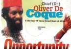 Chief Oliver De Coque- Opportunity