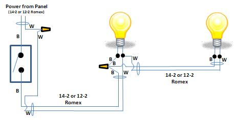 How To Wire Two Lights Controlled From One Switch