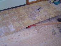 Removing Ceramic Tile Flooring | Backerboard Base