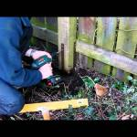 Concrete spur fence post repair: Tips for how to