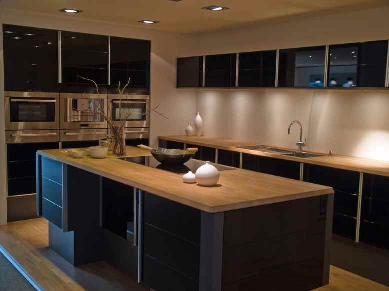 sexy kitchen with black cabinets