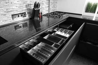 black kitchen cabinet for minimalists