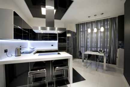 black kitchen cabinets for minimalists