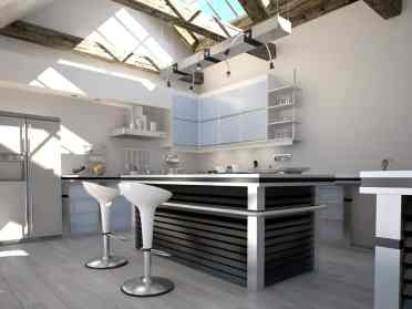 swivel bar stools which gives your contemporary kitchen personality and add to the ambiance of the space
