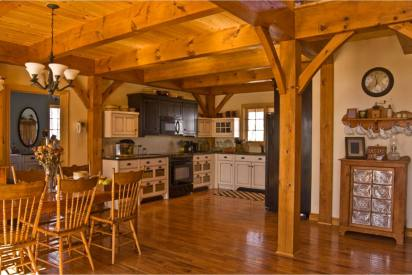 country kitchen with a natural appearance