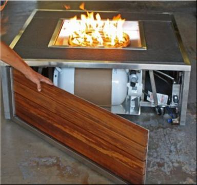 Custom propane fire tables for the Be