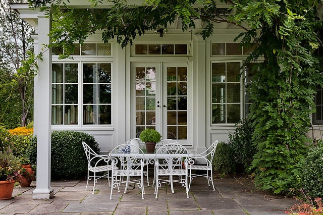 French Country Patio Home Design