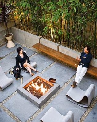 Industriele betonnen tuin garden indu