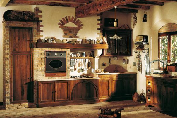 rustic kitchen design offering a relaxing atmosphere through the design and wooden touch