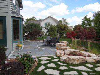 Stone Patio & Water Feature contemporary-patio