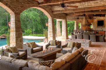 Tuscan Farmhouse - mediterranean - patio