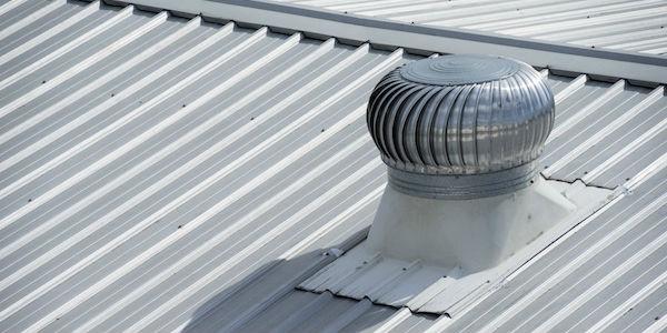 vent bathroom fan through metal roof