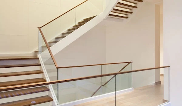 2020 Glass Deck Stair Railing Costs Per Foot Homeadvisor   Glass Panel Stair Railing   Toughened   Square   Framed Glass   Staircase   Banister
