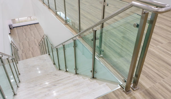 2020 Glass Deck Stair Railing Costs Per Foot Homeadvisor | Wooden Stair Railing Prices | Staircase Ideas | Deck Railing | Frameless Glass | Steel | Glass Stair