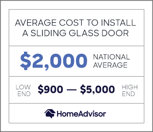 2021 sliding glass door cost install