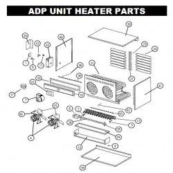 CONTROL BOARD Part#76777500 ADP Unit Heater Replacement