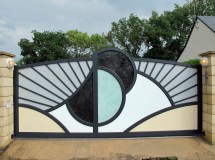 Modern Metal Garden Gate Design