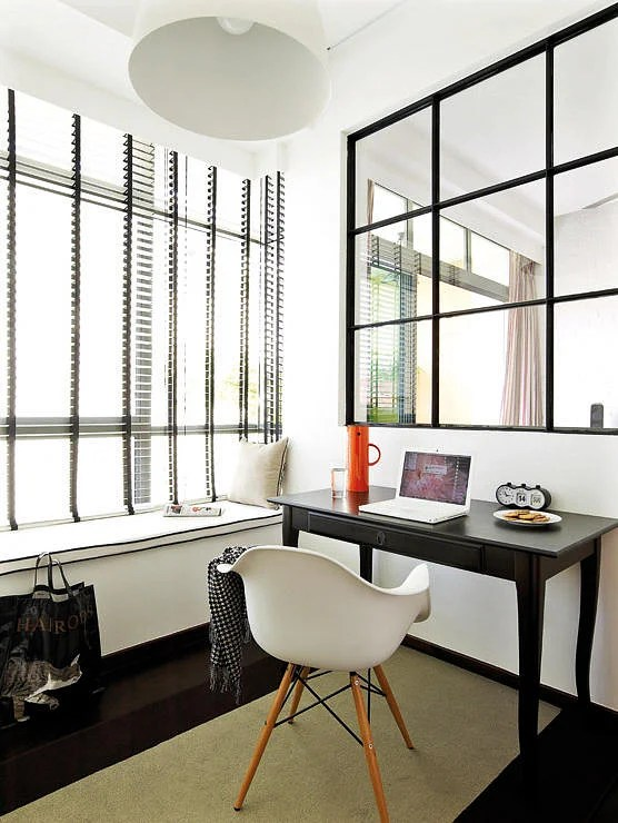 Inspiring Workstations By The Bay Window