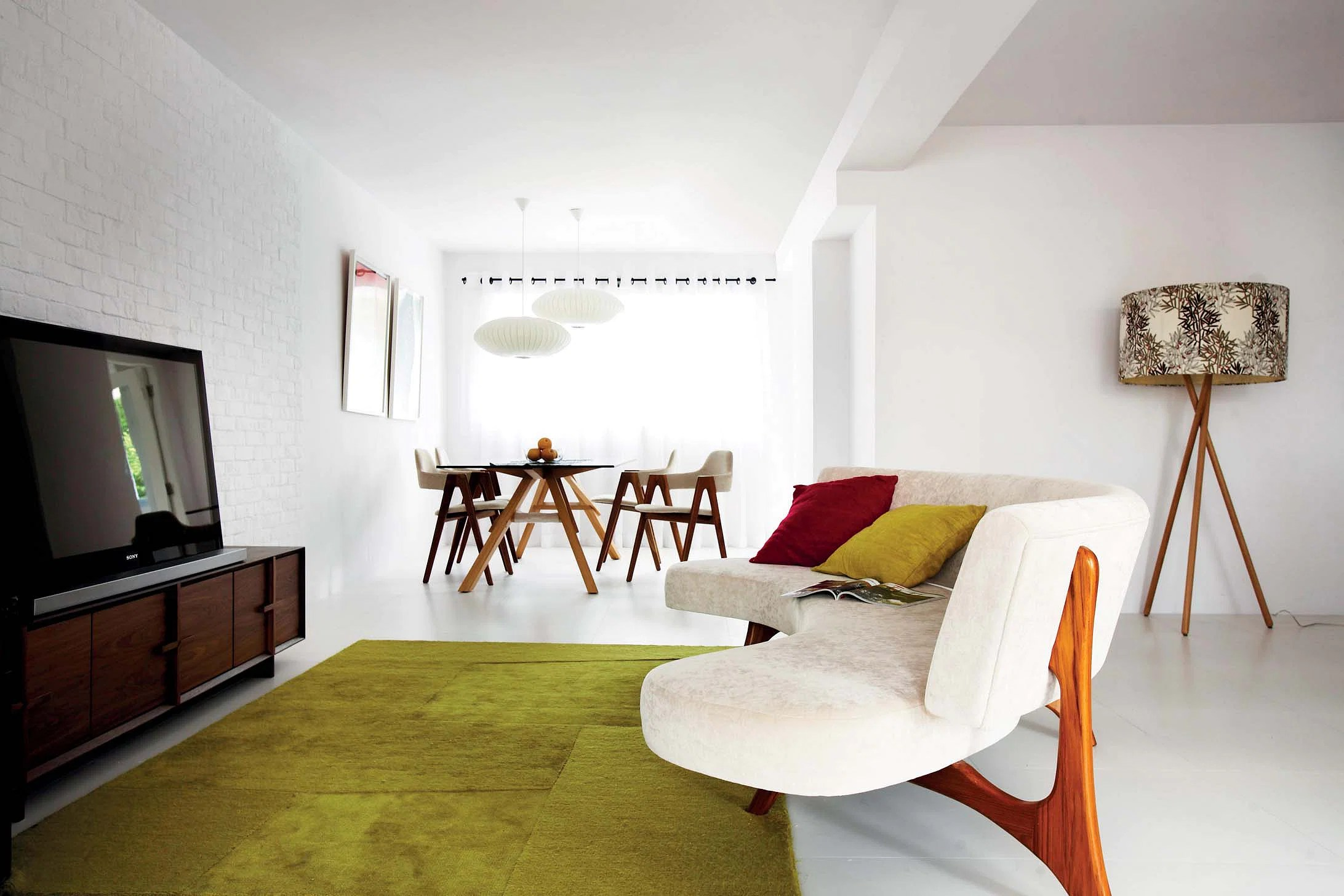 simple clean living room design sunroom off house tour but bright five hdb flat home airy white