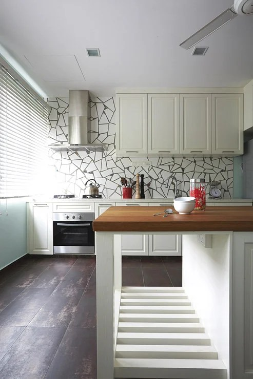 kitchen planners hickory shaker style cabinets design 25 000 rustic with expansive space home designer irene toh of spacious proposed demolishing the walls that separated original wet and dry kitchens yard toilet storeroom