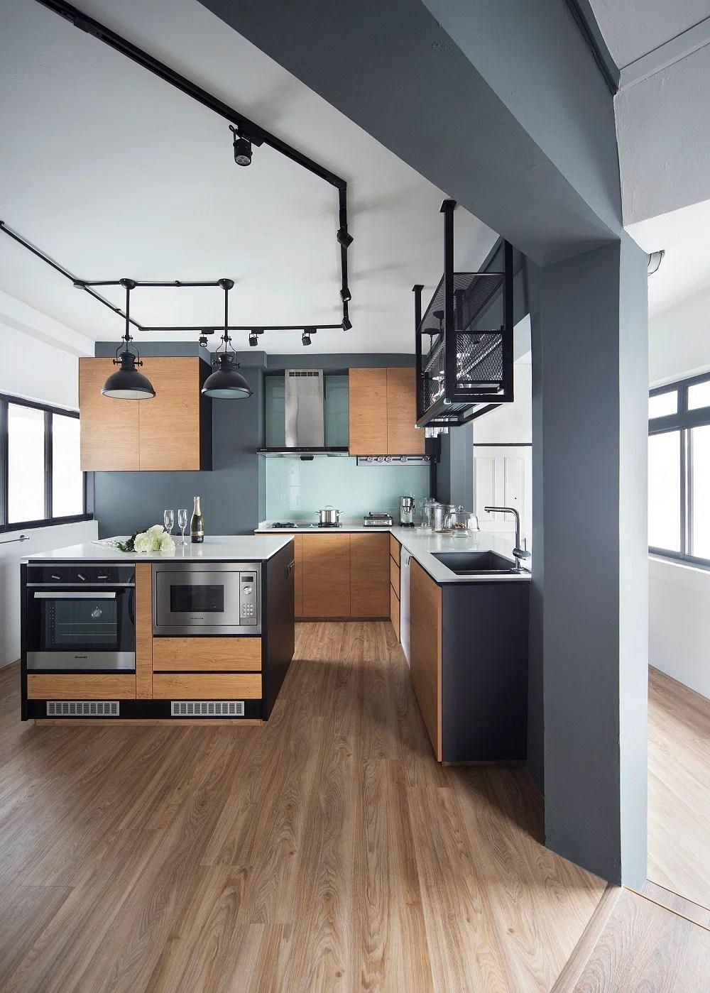 House Tour 60000 Minimalist Industrial Four Room HDB Flat Home Amp Decor Singapore