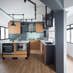 Vinyl Kitchen Flooring Ceramic Tiles For House Tour: $60,000 Minimalist Industrial Four-room Hdb ...
