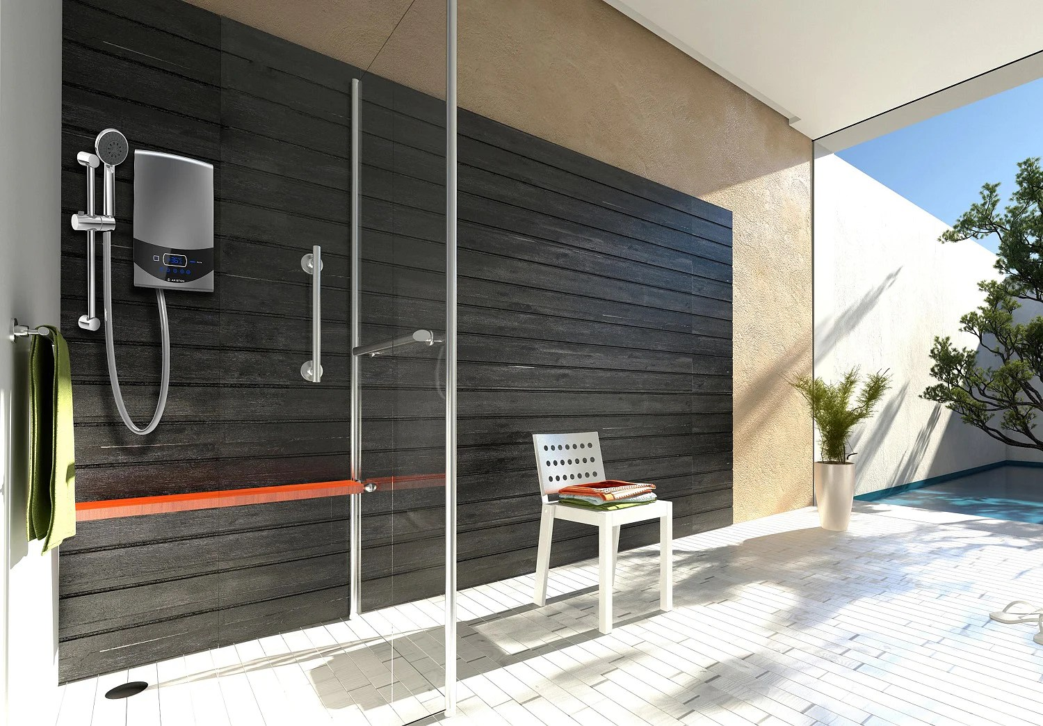 hight resolution of ariston s aures luxury electric instant water heater priced at 299 is designed by italian designer umberto palermo and is developed with the brand s
