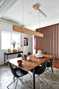 Dining room design ideas: Stylish dining table and pendant
