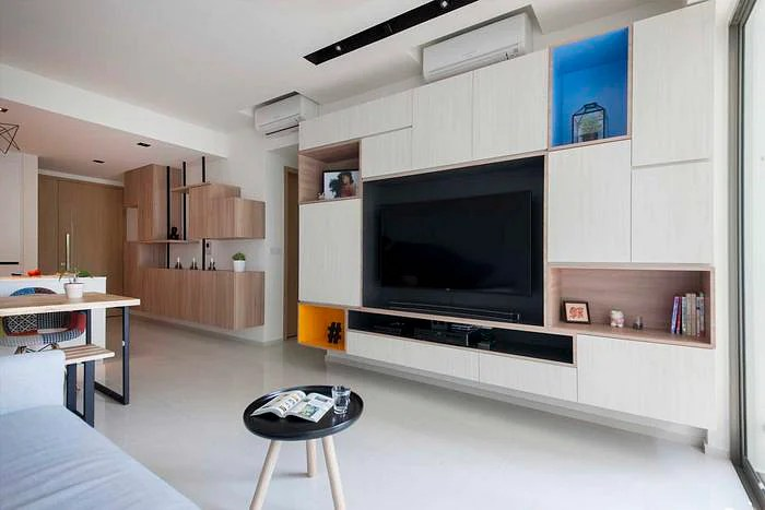5 modern and geometric TV console designs  Home  Decor