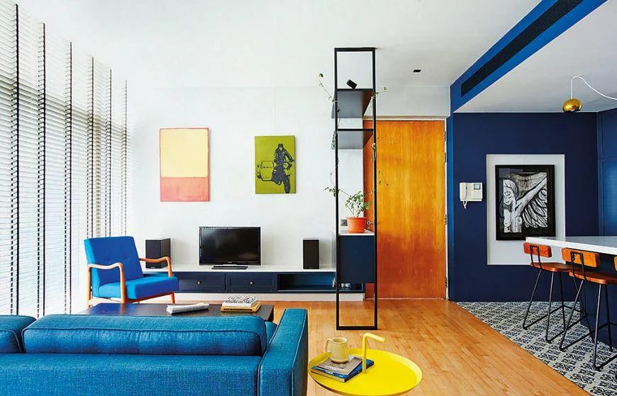 living room show homes country chic bold and blue: two you how to make blue ...