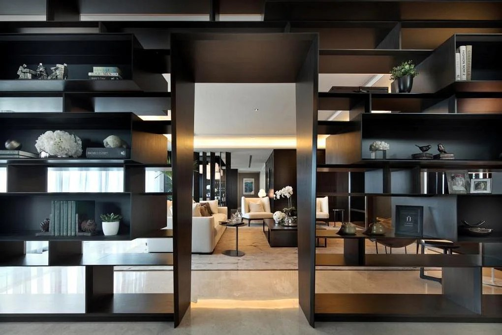 decorate large living room about furniture design ideas for floor-to-ceiling cabinets and display ...