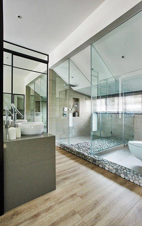 7 classy homes with openconcept bathrooms  Home  Decor Singapore