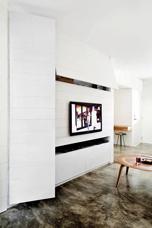 sleek tv unit design for living room traditional ideas 2016 10 elegantly clean cut console and feature wall ...