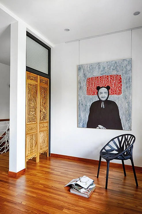 We love the industrial midcenturyModern Peranakan Oriental vibe of this home  Home