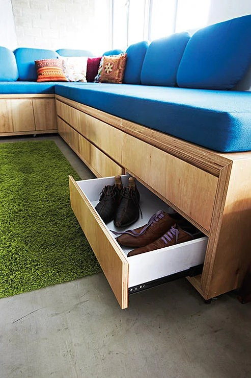 sofa bed mechanism navy blue slipcovers for too many things, little space? here are 8 storage ...