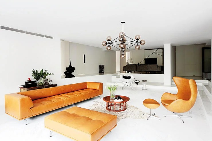 new york loft style living room bench seating storage house tour a light coloured apartment home the