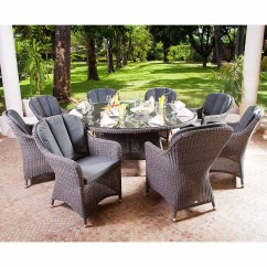 Grey Weave Garden Chairs Officeworks Chair Accessories Alexander Rose Monte Carlo 8 Seat Closed