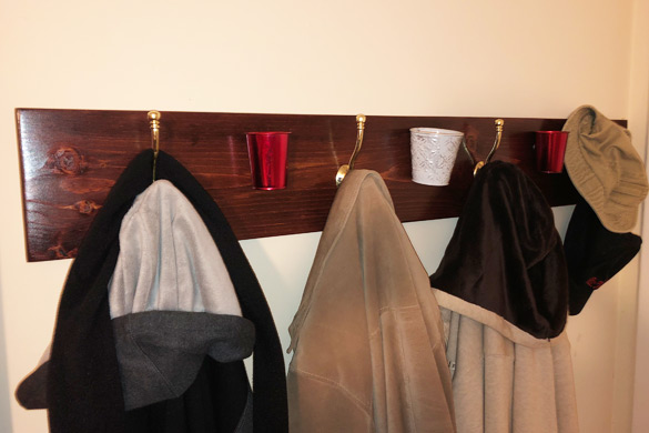DIY entryway furniture wall mounted coat rack